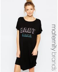Adolescent Clothing - Black Baby Mama Nightee - Lyst