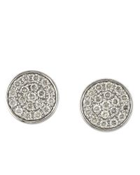 Effy - Trio Diamond And 14K White Gold Button Stud Earrings - Lyst