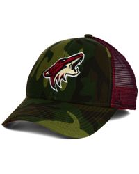 Reebok | Green Arizona Coyotes Camo Trucker Cap for Men | Lyst