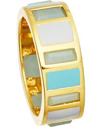 Astley Clarke | Metallic 18ct Gold Vermeil Amazonite Enamel Ring | Lyst