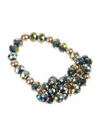 Gaby | Green Esta Beaded Cluster Bracelet | Lyst