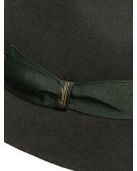 Borsalino | Green Rabbit Fur Felt Large Brim Hat | Lyst