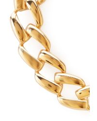 Forever 21   Metallic Oversized Chain Link Necklace   Lyst