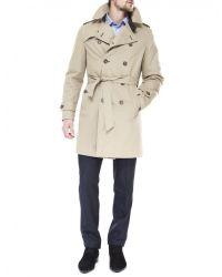 Jules B - Natural Trench Coat for Men - Lyst