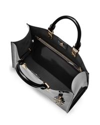 Karl Lagerfeld - Patent Leather Tote - Black - Lyst