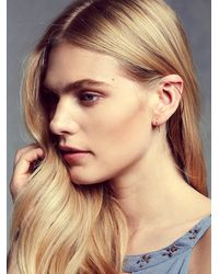 Free People | Metallic Another Feather Womens Slope Earrings | Lyst