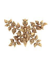 Oscar de la Renta - Metallic Butterfly Goldtone Crystal Brooch - Lyst