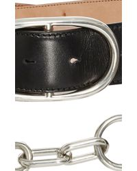 Alexander Wang - Double Belt In Black Calf Leather - Lyst