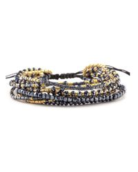 Chan Luu | Black Multi-strand Satin Crystal Bracelet | Lyst