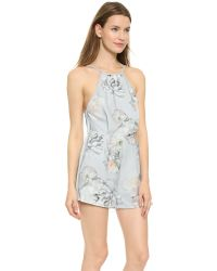 Finders Keepers - Multicolor Check The Rhyme Romper - Digital Floral Grey - Lyst