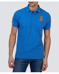 Hackett | Blue Tailored Fit Classic Polo Shirt for Men | Lyst