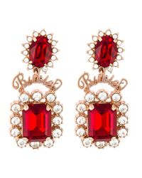 Mawi | Red Rubies Word Crystal Earrings | Lyst