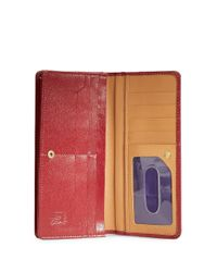 Tusk | Red Madison Leather Gusseted Clutch | Lyst