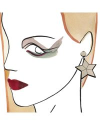 Yazbukey - Metallic Superstar Earrings - Lyst