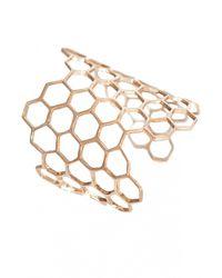 Bernard Delettrez | Metallic Honeycomb Cuff Bracelet | Lyst
