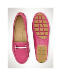 Ralph Lauren - Pink Leather Caliana Loafer - Lyst