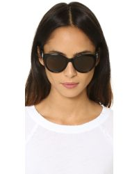 Tory Burch - Black Full Rim Cat Eye Sunglasses - Lyst