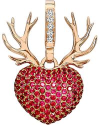 Theo Fennell | Pink 18ct Rose Gold, Diamond And Ruby Rudolph Pendant - For Women | Lyst