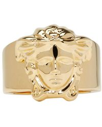 Versace | Metallic Gold Medusa Ring | Lyst