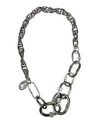 Lanvin - Metallic Necklace - Lyst