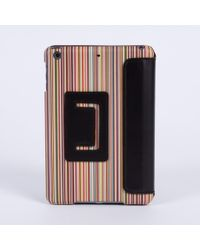 Paul Smith | Black Signature Stripe Print Leather Ipad Mini Case for Men | Lyst