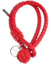 Bottega Veneta | Red Intrecciato Bracelet | Lyst