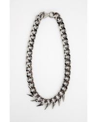 Nicole Miller | Black Fin Collar Necklace | Lyst