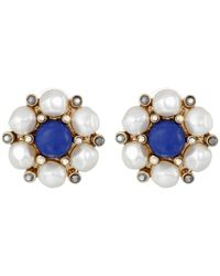 Betsey Johnson | Multicolor Shipshape Pearl Button Stud Earrings | Lyst