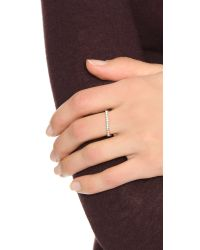 Zoe Chicco - Metallic Oxidized Flat Top Bar Ring - Lyst