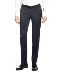 HUGO | Blue Finely Patterned Extra-slim-fit 3-piece Suit In New-wool Blend: 'armento/wian/hawer' for Men | Lyst