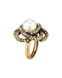 Oscar de la Renta | Metallic Pearl Ring | Lyst