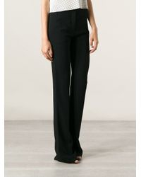 Givenchy | Black Flared Tailored Trousers | Lyst