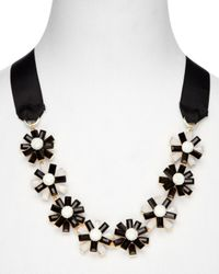 Weekend by Maxmara - Black Dindy Daisies Tie Necklace - Lyst