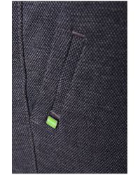 BOSS Green - Blue Slim-fit Trousers: 'luken-w' In Cotton Blend for Men - Lyst