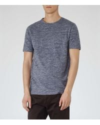 Reiss | Blue Mayers Flecked T-shirt for Men | Lyst