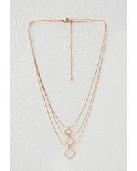 Forever 21 - Metallic Layered Geo Charm Necklace - Lyst