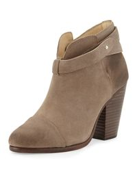 Rag & Bone - Natural Harrow Suede Ankle Boots - Lyst