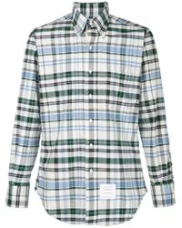 Thom Browne | Blue Checked Shirt for Men | Lyst