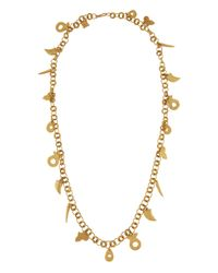 Ashley Pittman - Metallic Bronze Charm Long Necklace - Lyst