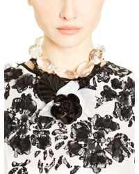 Oscar de la Renta | Black Rock Crystal Necklace | Lyst