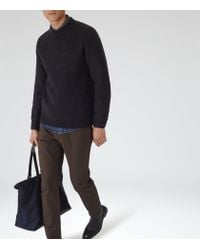 Reiss | Blue Cook Ribbed Crew-neck Jumper for Men | Lyst