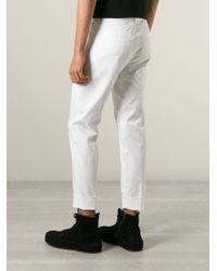 Iceberg - White Cropped Trousers for Men - Lyst