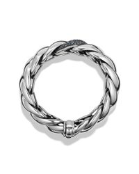 David Yurman - Hampton Cable Bracelet with Gray Diamonds Blue Sapphire and Lavender Spinel - Lyst