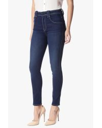 7 For All Mankind Blue Fashion High Waist Ankle Skinny With Pop Stitch In Dark Rich Vibrant 2