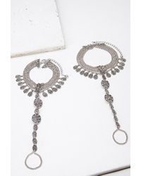Forever 21 - Metallic Etched Foot Chain Set - Lyst