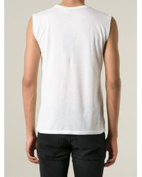 Saint Laurent | White 'Bombhead' Tank Top for Men | Lyst