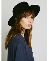Free People | Black Clean Slate Felt Hat | Lyst