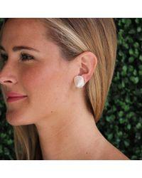 Yvel | White Baroque Freshwater Pearl Earrings | Lyst