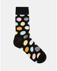 Happy Socks - Multicolor Big Dot Socks for Men - Lyst