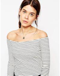ASOS | Black Mini Sunbeam Necklace | Lyst